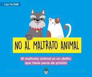 publicidad de ley 14346 argentina contra maltrato animal